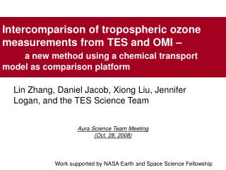 Lin Zhang, Daniel Jacob, Xiong Liu, Jennifer Logan, and the TES Science Team