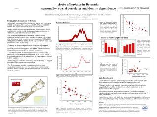 Aedes albopictus  in Bermuda: seasonality, spatial correlates and density dependence