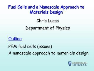 Fuel Cells and a  Nanoscale  Approach to Materials Design