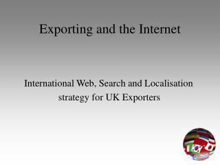 Exporting and the Internet