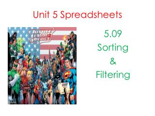 Unit 5 Spreadsheets