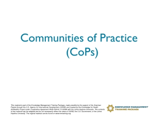 COPCS: Community of Practice, Creativity and Support