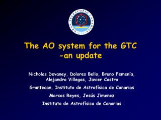 The AO system for the GTC -an update