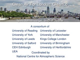 Clean Air For London:  ClearfLo