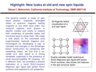 2d Kagome lattice;  visualization of a q=0 spin liquid