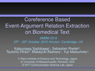 Coreference Based  Event-Argument Relation Extraction on Biomedical Text