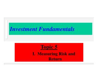 Investment Fundamentals