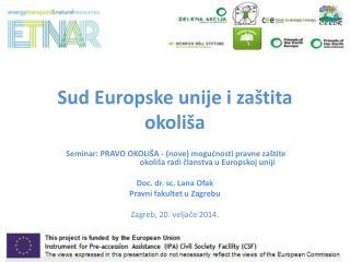 Sud Europske unije i zaštita okoliša