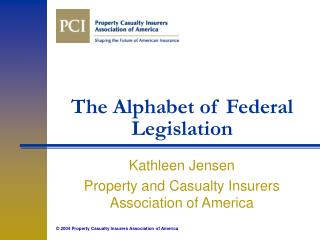 The Alphabet of Federal Legislation