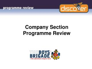 Company Section Programme Review