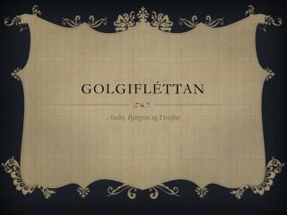 GolgiFléttan