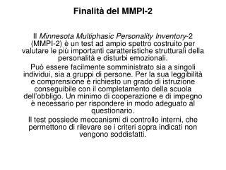 Finalit  del MMPI-2
