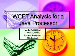 WCET Analysis for a Java Processor