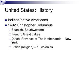 United States: History