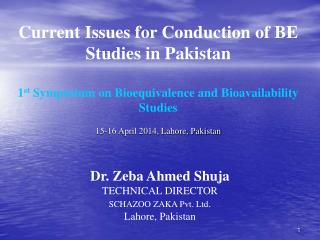 Current Issues for Conduction of BE Studies in Pakistan