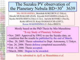 The Suzaku PV observation of  the Planetary Nebula BD+30°3639