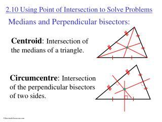 Medians and Perpendicular bisectors: