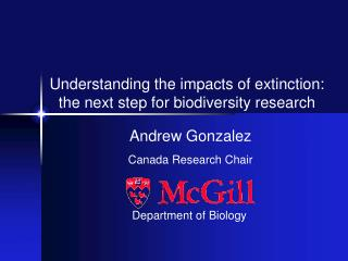 Andrew Gonzalez Canada Research Chair