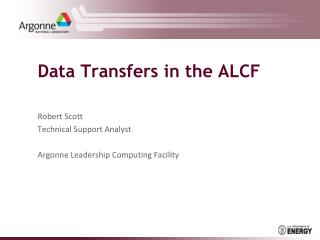 Data Transfers in the ALCF
