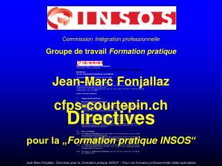 Commission  Int�gration professionnelle Groupe de travail  Formation pratique