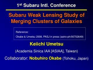 1 st  Subaru Intl. Conference