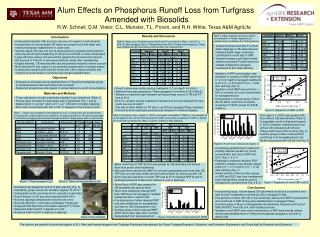 Alum Effects on Phosphorus Runoff Loss from Turfgrass  								Amended with Biosolids