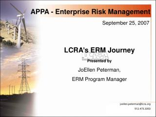 APPA - Enterprise Risk Management