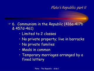 Plato's Republic: part II