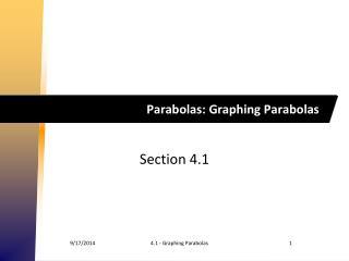 Parabolas: Graphing Parabolas