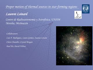 Proper motion of thermal sources in star-forming regions