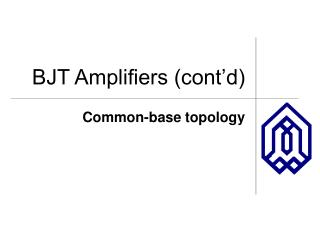 BJT Amplifiers (cont'd)