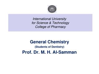 International University  for Science & Technology College of Pharmacy