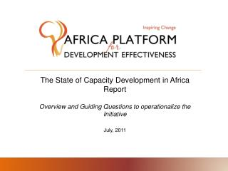 The State of Capacity Development in Africa Report