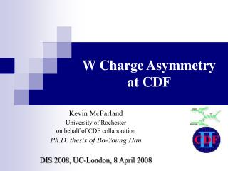 W Charge Asymmetry at CDF