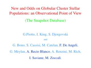 New and  Odds  on Globular Cluster Stellar Populations: an Observational Point of View