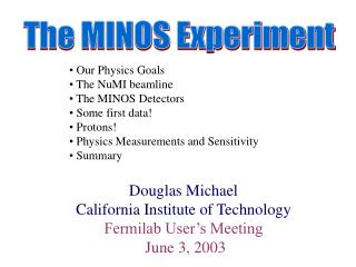 The MINOS Experiment