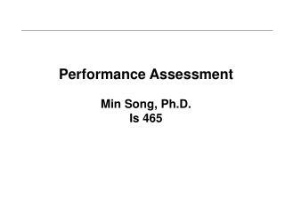 Performance AssessmentMin Song