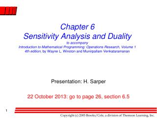 Presentation: H. Sarper 22 October 2013: go to page 26, section 6.5