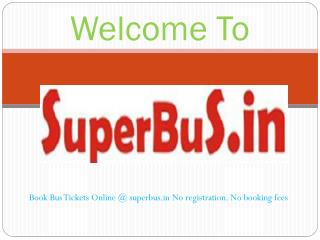 Online Bus Tickets Booking Service