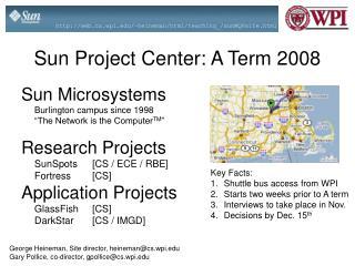 Sun Project Center: A Term 2008