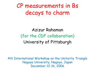 CP measurements in Bs decays to charm