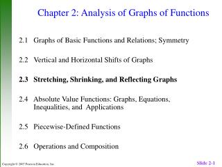 Chapter 2: Analysis of Graphs of Functions