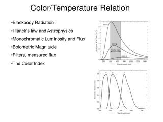 Color/Temperature Relation