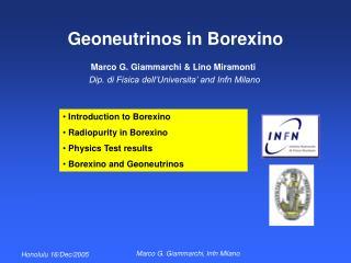 Geoneutrinos in Borexino