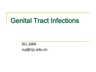Genital Tract Infections