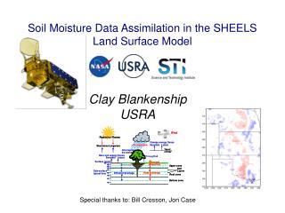 Soil Moisture Data Assimilation in the SHEELS Land Surface Model
