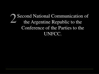 First National Communication (1997)