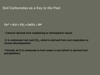 Soil Carbonates as a Key to the Past