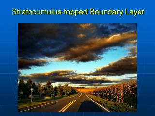 Stratocumulus-topped Boundary Layer