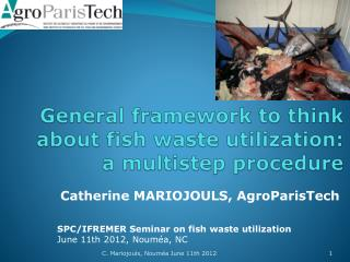 General framework to think about fish waste utilization:  a  multistep  procedure